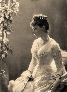 Vintage Victorian gown