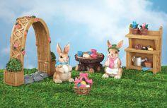 Collectible Miniature Easter Garden Set - 6 pc