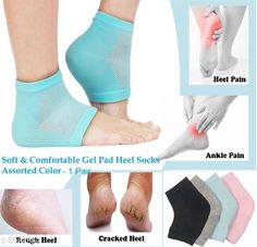 Others Premium Quality 1 Pair Spa Vented Moisturising Gel Heel Socks For Dry Hard Cracked Skin Moisturizing Arch Orthotic Tool Open Toe Comfy Recovery Socks.  Product Name:Premium Quality 1 Pair Spa Vented Moisturising Gel Heel Socks For Dry Hard Cracked Skin Moisturizing Arch Orthotic Tool Open Toe Comfy Recovery Socks. Product  Type: Gel Heel Socks Material: Polyester Cotton Gel Size: Free Size Package Contains: It Has 1 Pair Of Spa Gel Heel Socks Sizes Available: Free Size *Proof of Safe Delivery! Click to know on Safety Standards of Delivery Partners- https://ltl.sh/y_nZrAV3  Catalog Rating: ★4 (261)  Catalog Name: Premium Choice Health Care Accessories Vol 8 CatalogID_749046 C82-SC1308 Code: 742-5084562-