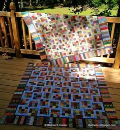 Free Tutorial - Dancing Nines Quilt by Bonnie Hunter