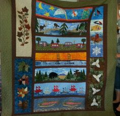 My Row by Row quilt.