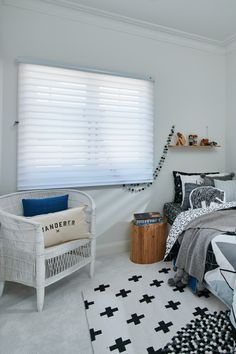 Luxaflex Silhouette Shadings, Boys Room - Child-safe Blinds Solutions