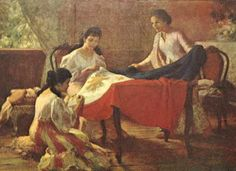 "On May Fernando Amorsolo, declared the first National Artist in Painting in 1972 and the ""Grand Old Man of Philippine Art"", was born in Paco, Manila. Filipino Art, Filipino Culture, Filipino Food, Philippine Art, Munier, Philippines Culture, Flag Painting, Today In History, Folk Dance"