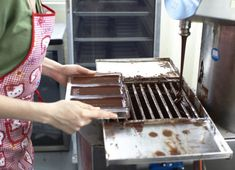 Chocolate being tempered at Dandelion. Photo credit: Laurie Frankel for Dandelion Chocolate