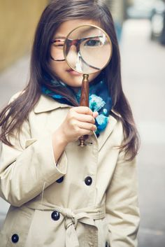 Who's that cute little detective?  ;-)  A little detective work with Tenley Clark