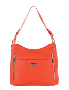 Grace Adele Handbag ~ Giselle Orange $80 ~ Zippered hobo with detachable shoulder strap. Great bag for concealed weapons. www.EyeCandy.GraceAdele.us