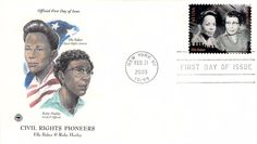 2009 Civil Rights Pioneers Baker Hurley Hand Colored PCS First Day Cover