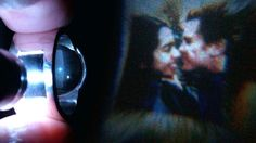 Projected image from one of a kind engagement ring..