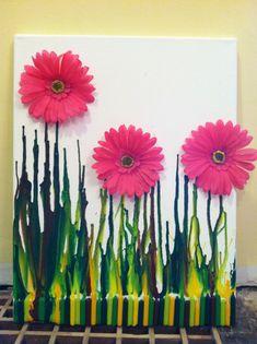 Melted crayon garden :)