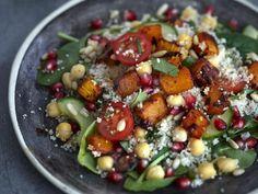 Jennifer Irvine, The Pure Package, Spiced Butternut & Couscous Salad with Raspberry Vinaigrette