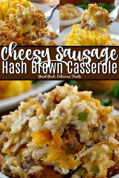 Sausage Hash Brown Casserole is loaded with delicious sausage lots of cheese hash browns onions and has a crunchy topping.Cheesy Sausage Hash Brown Casserole is loaded with delicious sausage lots of cheese hash browns onions and has a crunchy topping. Breakfast Casserole Easy, Breakfast Dishes, Breakfast Time, Breakfast Recipes, Sausage Hashbrown Breakfast Casserole, Brunch Casserole, Savory Breakfast, Breakfast Ideas, Brunch Recipes