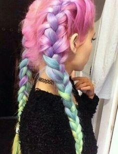 Love rainbow hair! Love the unicorns! Soo damn cute