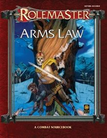 Arms Law for Rolemaster Fantasy Role Playing (RMFRP) RPG from Iron Crown Enterprises.