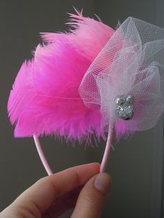 feathered headband...great little girl party favor