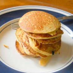 Coconut Flour Pancakes-- Love these! I make a double batch. They reheat quickly in a skillet and are just as tasty as when made fresh.