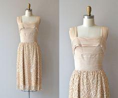 Carlye soutache dress • vintage 1950s dress • cream 50s wiggle dress