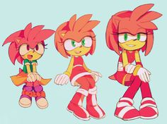 Amy rose growing up but still cute.