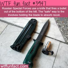 Russian knife that fires a bullet - WOW! -WTF weird and fun facts