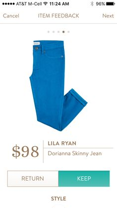 Lila Ryan Dorianna Skinny Jean I love Stitch Fix! Personalized styling service and it's amazing!! Fill out a style profile with sizing and preferences. Then your very own stylist selects 5 pieces to send to you to try out at home. Keep what you love and return what you don't. Try it out using the link! #stitchfix @stitchfix https://www.stitchfix.com/referral/5634870