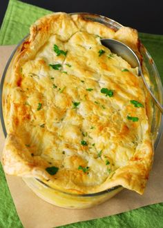 Sausage, Leek, and Potato Pie from A Duck's Oven. A cheesy, delicious, simple dinner.