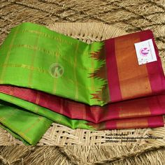 Exclusive Gadwal Pattu Collections From Kushi Designers !!  Buy Now - http://www.kushidesigners.in/Parrot-Green-checks-allover-saree-with-Temple-border-gadwal-pattu We do undertake blouse designs and stitching.. For more info write us - kushidesigners@gmail.com , Whats app @ 9866108589 , Call - 040-40031889