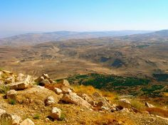 Mt. Nebo, Jordan, where moses is burried.