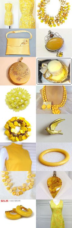 ॐ Yellow like the Sun's rays ॐ by Dorota and Monika on Etsy--Pinned+with+TreasuryPin.com