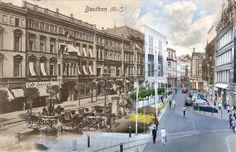 Plac Kościuszki w Bytomiu 1905 r. / 2014 r.