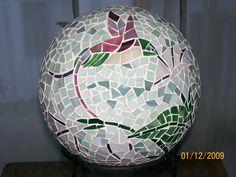 Mosaic Gazing Ball by Julie Grossman