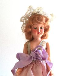 Vintage Bridesmaid Doll 1950's Hard Plastic Doll by FranciesFare