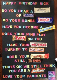 Candy gifts gift cards brittney s birthday birthday ideas birthday