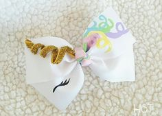 Unicorn Hair Bow, Birthday Gift, Unicorn cosplay, Unicorn Princess Birthday, Fantasy Unicorn Clip, Hand Painted bow, Kawaii Rainbow Barrette by HypnoticSweetTreats on Etsy