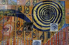 Reflecting - Tile mozaic, Petersham. Photo: Tom Moxey