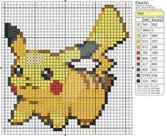Pokemon - Pikachu III by Makibird-Stitching on DeviantArt Cross Stitch Charts, Cross Stitch Designs, Cross Stitch Patterns, Cross Stitching, Cross Stitch Embroidery, Pokemon Cross Stitch, Pokemon Craft, Crochet Pokemon, 8bit Art