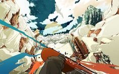 Winter X Games by Golden Wolf , via Behance