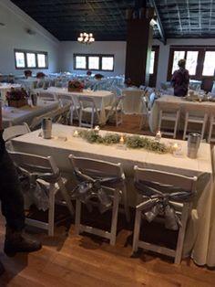 Table set up in Henkel Hall
