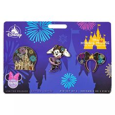 Minnie Mouse: The Main Attraction Pin Set – Nighttime Fireworks & Castle Finale – Limited Release | shopDisney