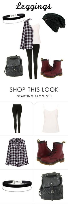 """wardrobe staples"" by brookelyn96 ❤ liked on Polyvore featuring Topshop, Ted Baker, Rails, Dr. Martens, Miss Selfridge, Leggings and WardrobeStaples"