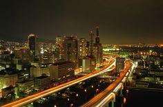 神戸湾岸線!   街並み・建物 > 夜景の写真   GANREF