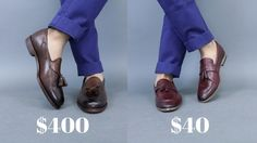 $40 Shoe vs $400 Shoe (and a GIVEAWAY)