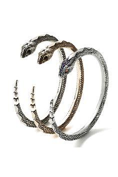 serpent bangle by pamela love