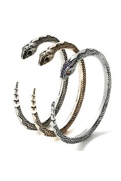 serpent bangle by pamela love