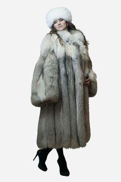 Fox coat w/white fox hat #2