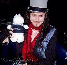 Tuomas Holopainen ..♡☆♡☆♡  with a soft toy .. awww