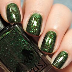 Merely Moss is part of the Just So Collection by Two Birds Lacquer. This polish is a dark green jelly base packed with green, brown and bronze glitters in different sizes. Full coverage in 2 easy coats, but 3 coats gives a lovely depth to the polish. All Two Birds Lacquer polishes are 5-free : no Toluene, Formaldehyde, DBP, Formaldehyde Resin or Camphor. All polishes are hand mixed and whilst I stick carefully to my recipes and try to photograph polish as colour accurately a...