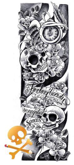 Commission - Skulls sleeve by WillemXSM.deviantart.com on @deviantART