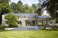 Completed in 2016 in Hampshire, United Kingdom. Images by Jack Hobhouse. Located in an area of outstanding natural beauty, within the South Downs National Park, the new house sits on the site of a bungalow that had been in...