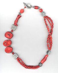 Michaels craft project coral necklace