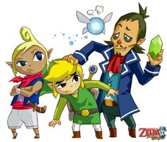 The Legend of Zelda: Phantom Hourglass Main Cast by ~Legend-tony980 on deviantART