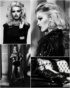 Dark Glamour   Daphne Groeneveld by Hedi Slimane for Vogue Russia April 2012